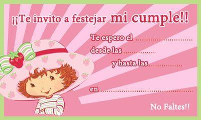 invitaciones de rosita fresita gratis   invitaciones cumpleaños gratis de Rosita Fresita, rosita fresita para ...