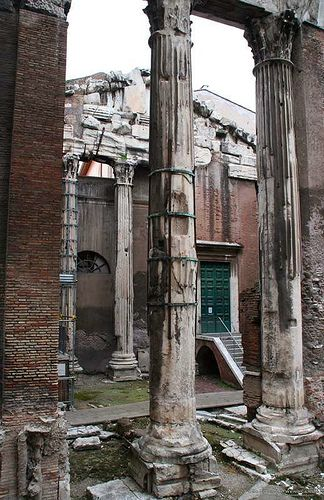 Portico di Ottavia in the Jewish Ghetto, Rome