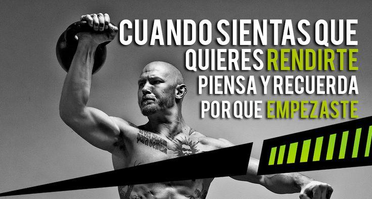 #Motivacion #Crossfit #Fitness #Quotes #Frases Cuando sientas que quieres rendirte #Forcefit