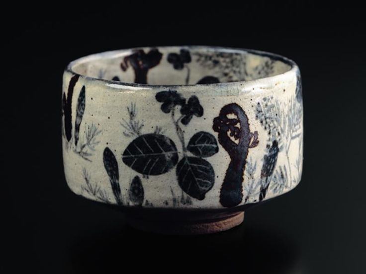 Tea Bowl with Spring Grasses Design, 18th century