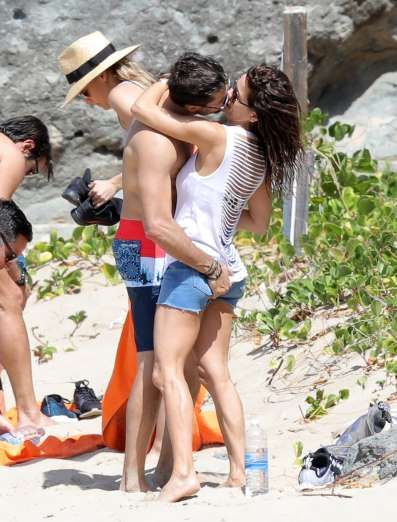 Celebrity PDA of 2017 - December 11, 2017:  Happy couple Brooke Burke-Charvet and David Charvet were caught packing on the PDA while enjoying a day on the beach in St. Barts on Feb. 15.