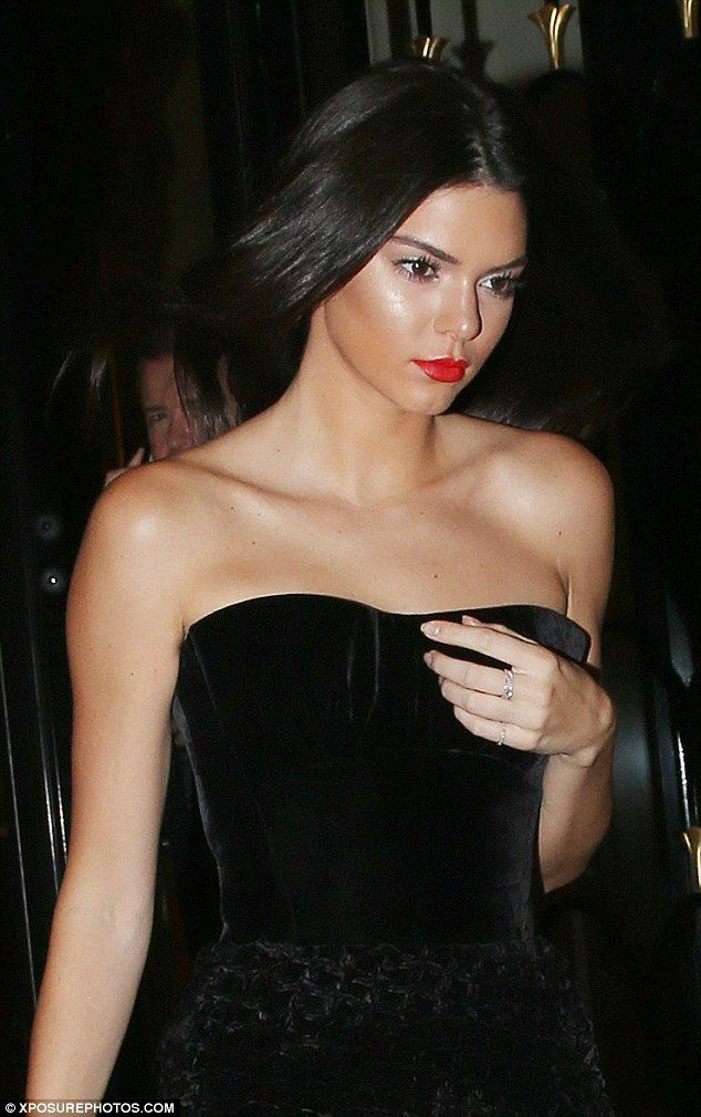 Stunning: Kendall looked flawless in her strapless number which showed off her model figur...