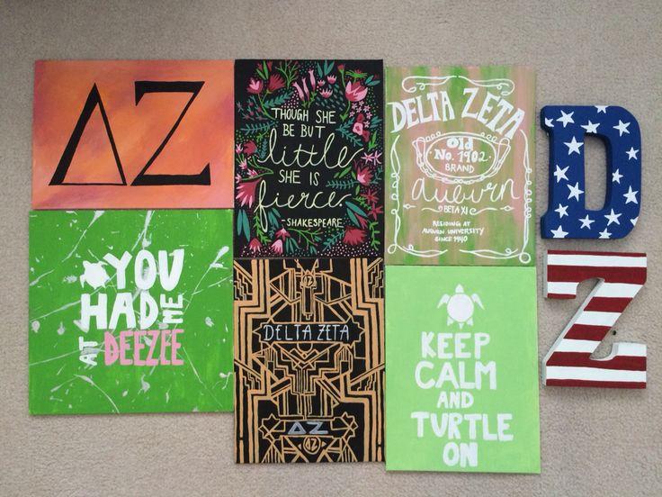 Delta Zeta crafts #sorority #crafts #dz