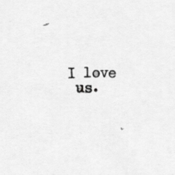 "Love quote idea - simple love quote idea - ""I love us"" {Courtesy of Vida Barceloni}"