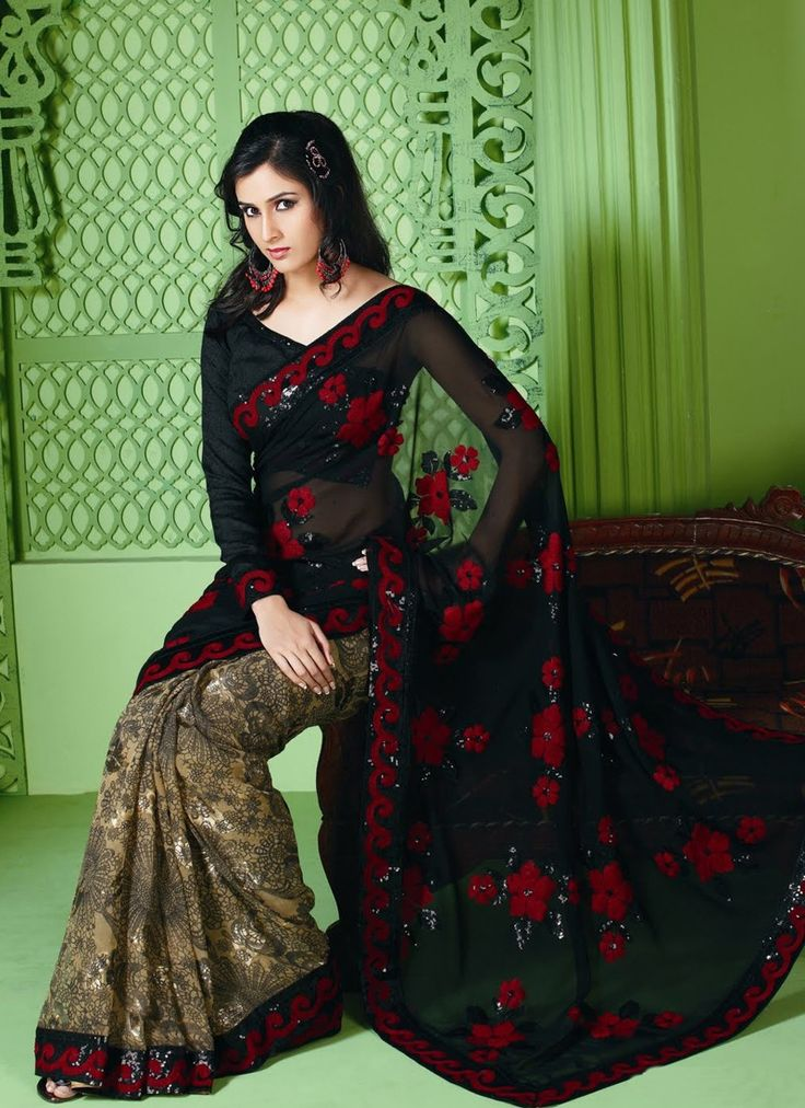 130 Best Embroidered Sarees Amazon Images On Pinterest