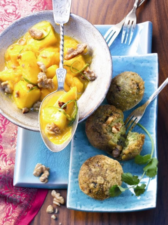 Mal was richtig Exotisches sind diese Falafelbällchen mit Mango-Pickles.