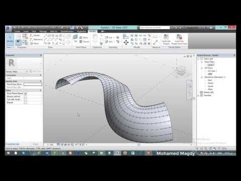 Curved Mass with Pattern Revit - YouTube | Parametric Family