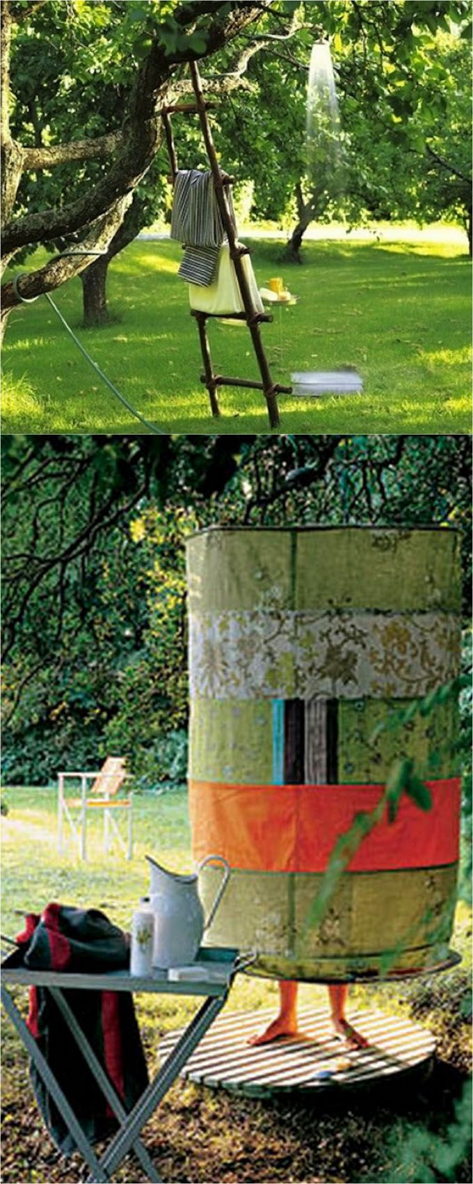 32 easy DIY outdoor showers: how to build enclosures with simple materials, best outdoor shower fixtures, creative designs and more! - apieceofrainbow.com