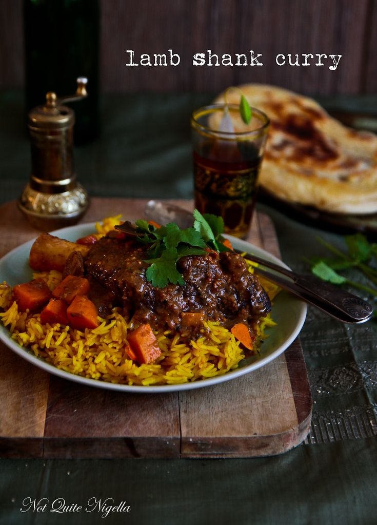 Lamb Shank Curry...skip the rice, or eat only a little, add a salad and you have a very healthy meal.