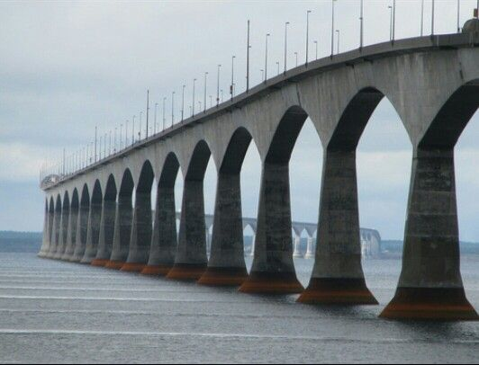 The bridge to the mainland.  My favorite way to start a ride.  Heading across the Confederation Bridge to escape the island!