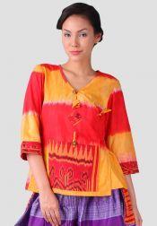 TRE Batik  TRE Batik Blouse Semi Kimono Merah
