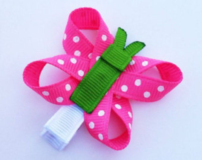 Mariposa rosa y verde caliente cinta escultura pelo Clip, pinza de pelo mariposa rosa, primavera pelo Clip, arco del pelo del niño, envío gratis PROMO