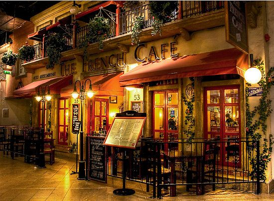 Cute it's a French cafe