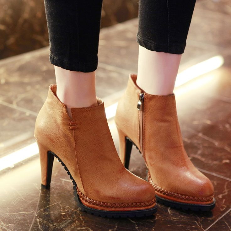 Find More Women's Boots Information about Top Sell Adorable Women's Comfort High heeled Boots Shoes Boots Femme Winter Ankle Spike Heels Boots Chelsea Boots,High Quality boots wireless,China boot folder Suppliers, Cheap boot men from Shinning Moon on Aliexpress.com