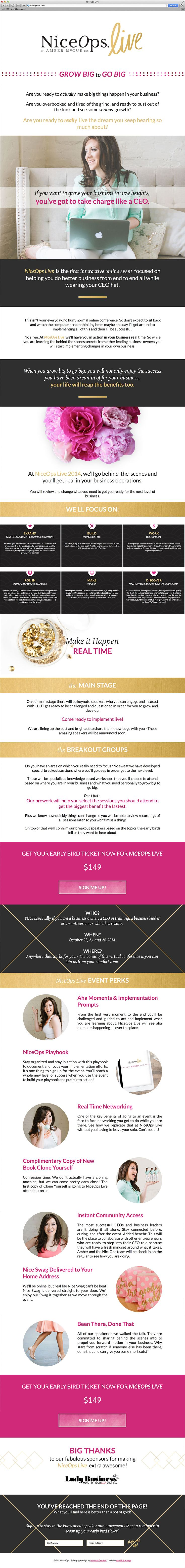 You go, Amber McCue! Gorgeous sales page design for entrepreneurs and e-courses, digital programs.