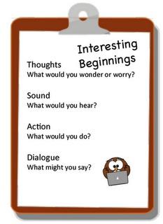 Empowering Writers and Interesting Beginnings
