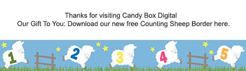 Download our new Counting Sheep Border Clip Art here on our Freebies page!