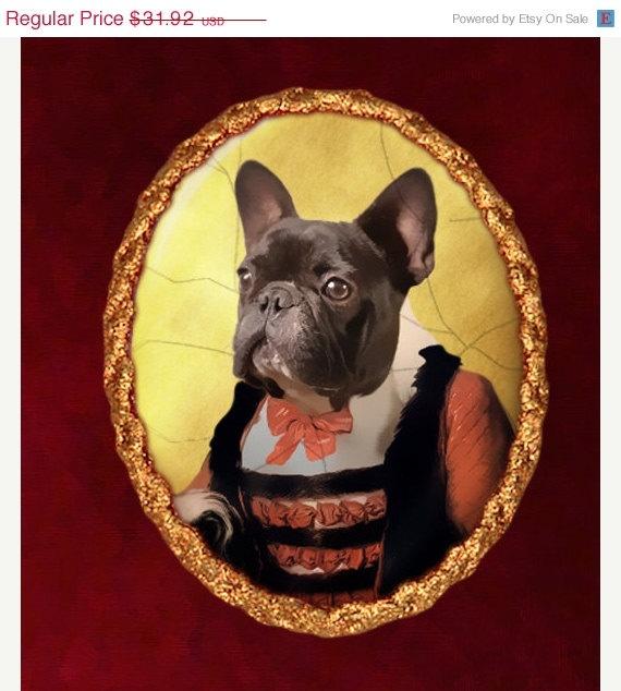 French Bulldog Brooch: