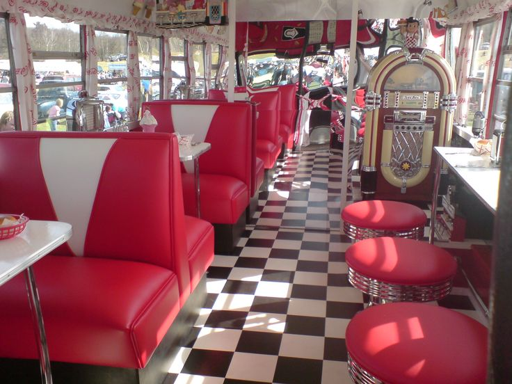 eat @ a 50's themed diner(: since...i can't go back in time & all.