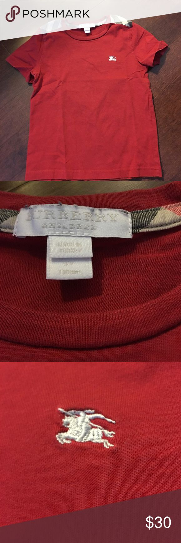 Burberry t shirt size 4 Size 5 but smaller like 4. No damage just wash and wear Burberry Shirts & Tops Tees - Short Sleeve