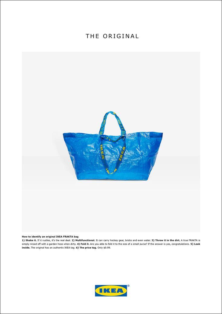 Work: Ikea responds to Balenciaga bag 'homage' - Creative Review