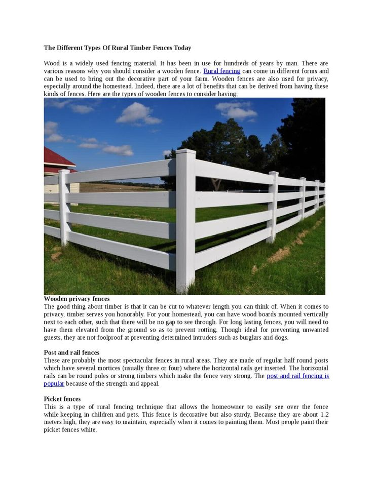 The Different Types Of #Rural #Timber #Fences Today | Issuu