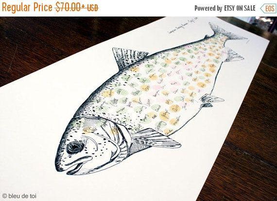 SPÉCIAL indépendance d'empreintes digitales truite poisson, empreinte originale…