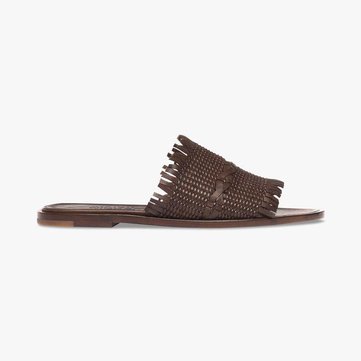 Mules en cuir tressé Zolino - MICHEL VIVIEN - Find this product on Bon Marché website - Le Bon Marché Rive Gauche