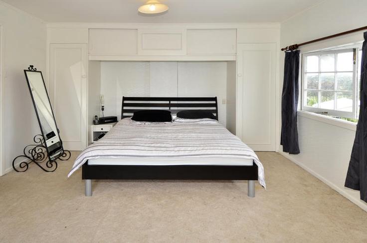 Bedroom with Built in wardrobes in 4 + 3 bedroom 1930's home @ Stanley Point Rd, Devonport. (in Mar 2013)