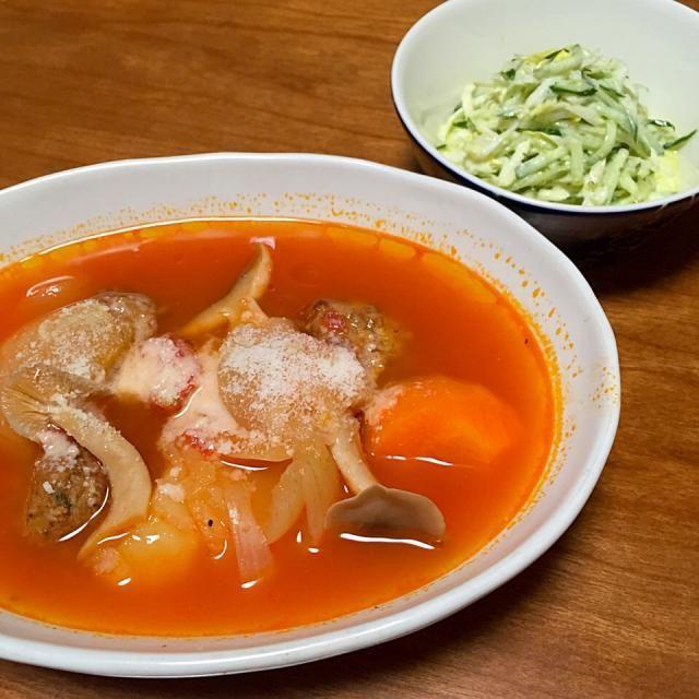 圧力鍋で作るトマトポトフ、白菜とキュウリのコールスロー - 8件のもぐもぐ - 献立2015.2.22 by lottarosie