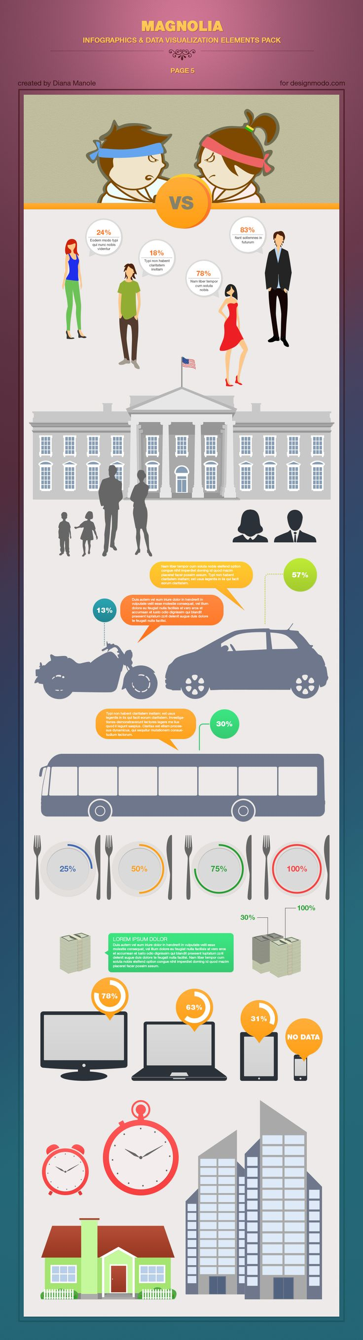 Infographics & Data Visualization Elements - page 5