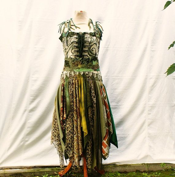 Bridesmaid Dress in Green Upcycled Woman's Clothing Funky Style Shabby Chic Eco Friendly Style Upcycled Clothig