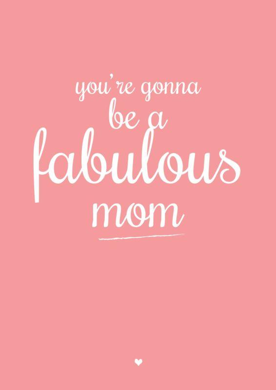 Petite Louise Kaart 'Fabulous Mom'