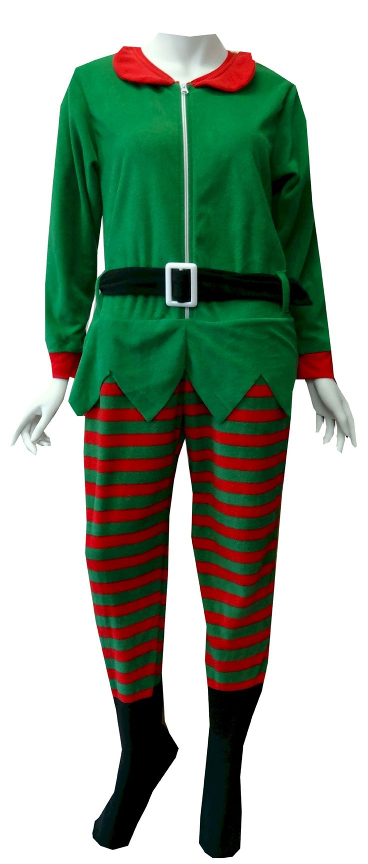 Red And Green Elf Onesie Footie Pajama Just For The Fun Of