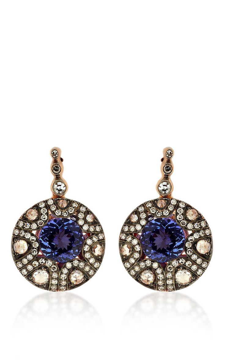 Selim Mouzannar Mille et Une Nuits Collection Diamond and Tanzanite Earrings $6,120 ($3,060.00 DEPOSIT)