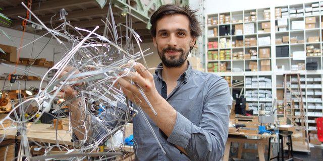 Lucas de Staël et ses montures dans son atelier parisien (avril 2014)