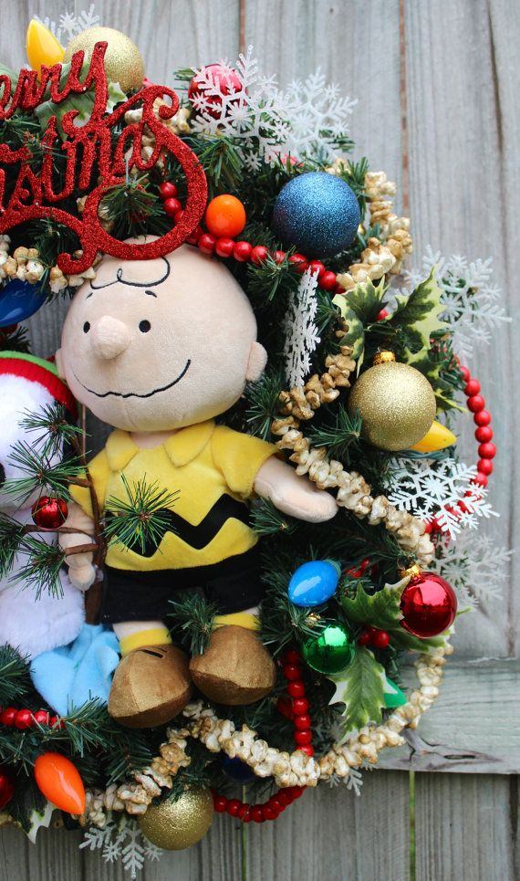 Peanuts Snoopy Woodstock & Charlie Brown por IrishGirlsWreaths