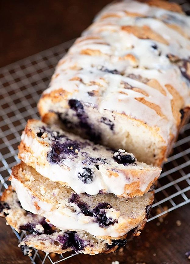 Blueberry muffin bread for when one muffin isn't quite enough(in).