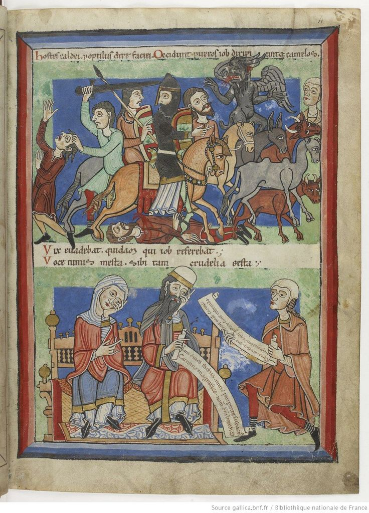 """""""Dernière partie de cet ouvrage"""", 1175-1200. A beautifully detailed french manuscript from the end of the 12th century. Sowing clothing, armor and other details (see also other Pages)."""