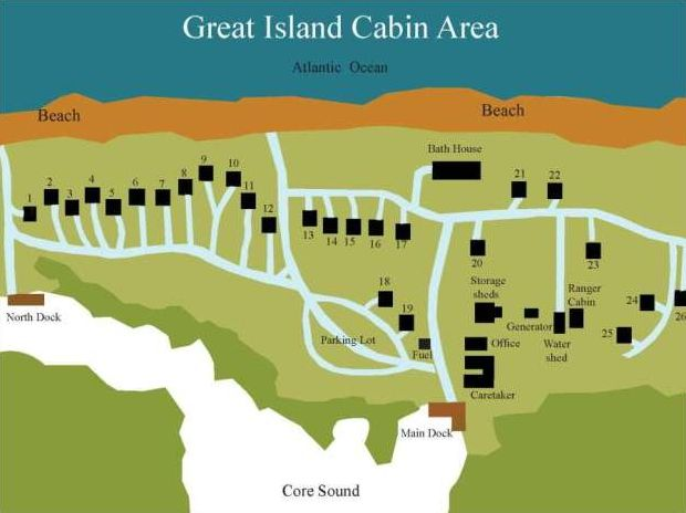 Cabins | Davis, NC Ferry | Cape Lookout Cabins & Camps | South Core Banks Fishing & Camping