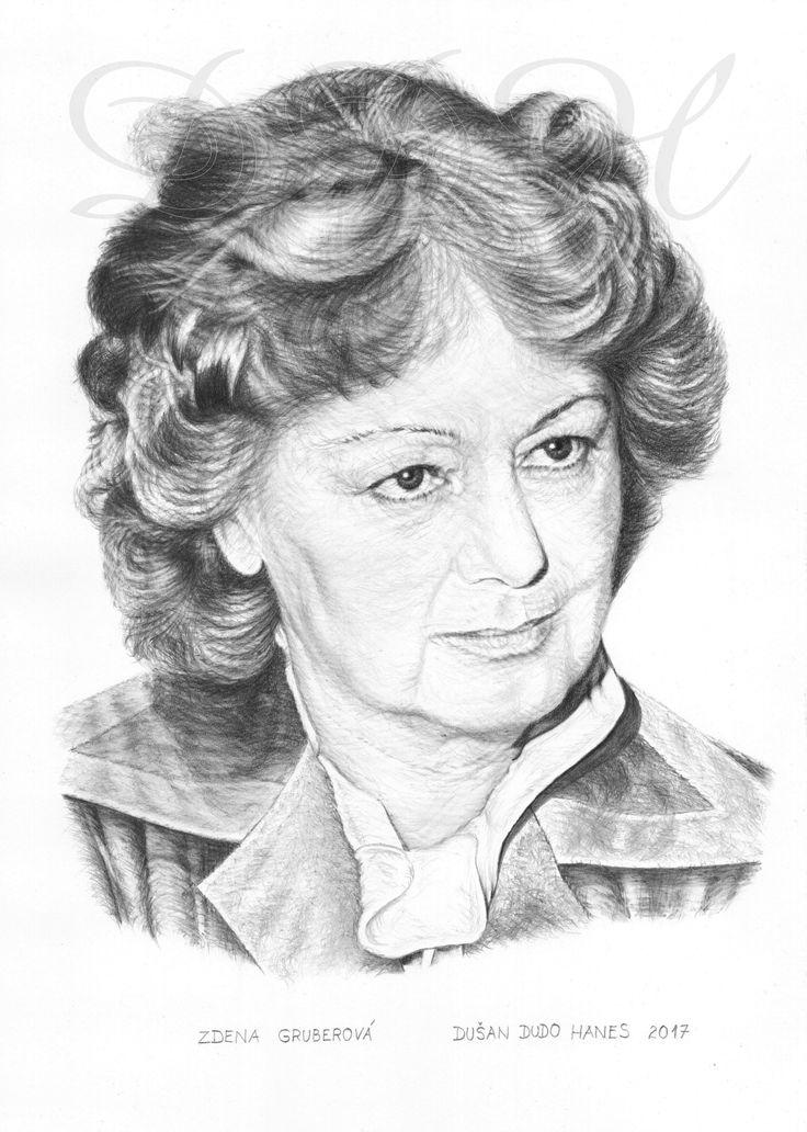 Zdena Gruberová, portrét Dušan Dudo Hanes