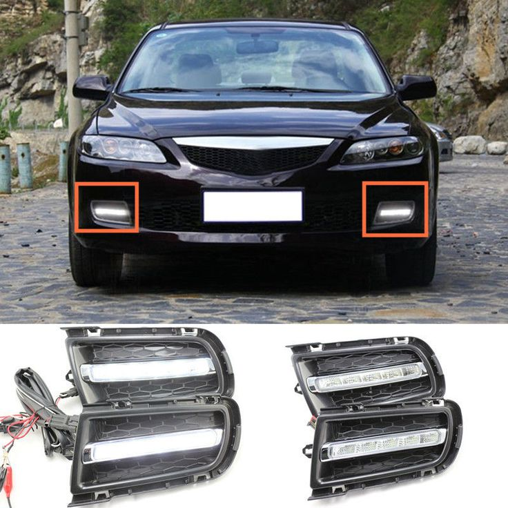 2pcs White LED Daytime Running Light DRL Fog Lamp for Mazda 6 2005 2006 2007 2008