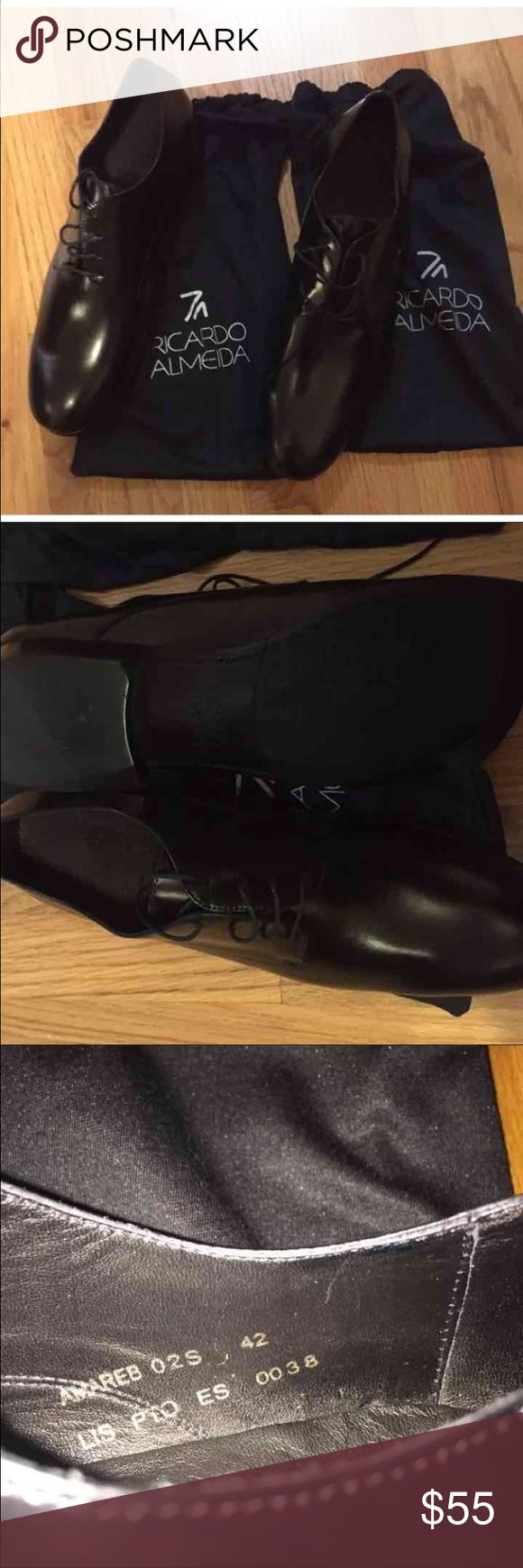 Ricardo Almeida men's shoes Brand new never worn. Brazil shoe size 42 is 10.5 in USA according to Internet search convertworld. Sorry I cannot guarantee it is a 10.5 shoe size.  Brazil's designer shoes. Shoes Oxfords & Derbys