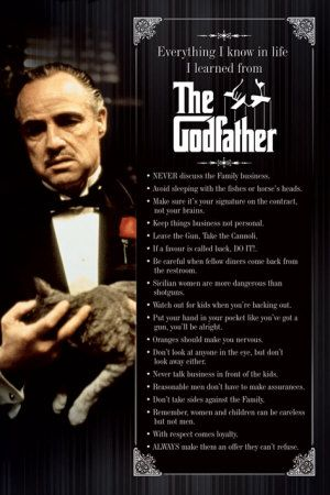 You can never go wrong with watching one the the GodFather movies