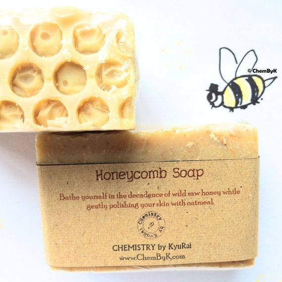 Honeycomb Soap - 100% Natural handmade soap from Malaysia. Buy online from anywhere around the world. For all skin types. With moisturizing active raw wild honey & oats.