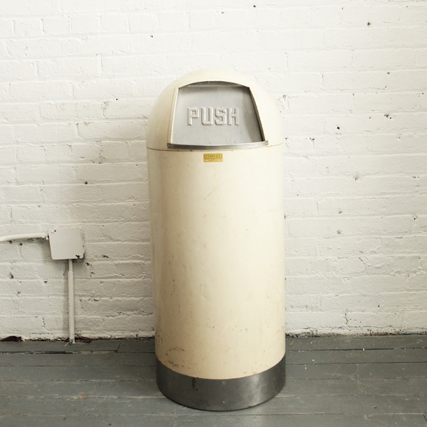 Vintage Industrial Trash Can
