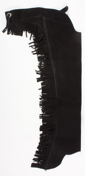 Black Leather Western Show Fringe Suede Chaps M L XL- Western Horse Saddles - Saddle Online