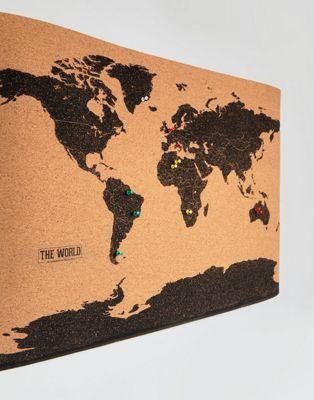 Gift Republic World Map Cork Board