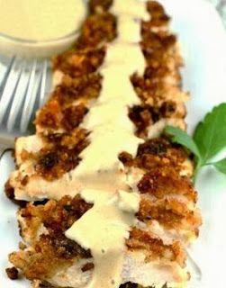 Honey Mustard Pretzel Chicken...low calorie...eating clean