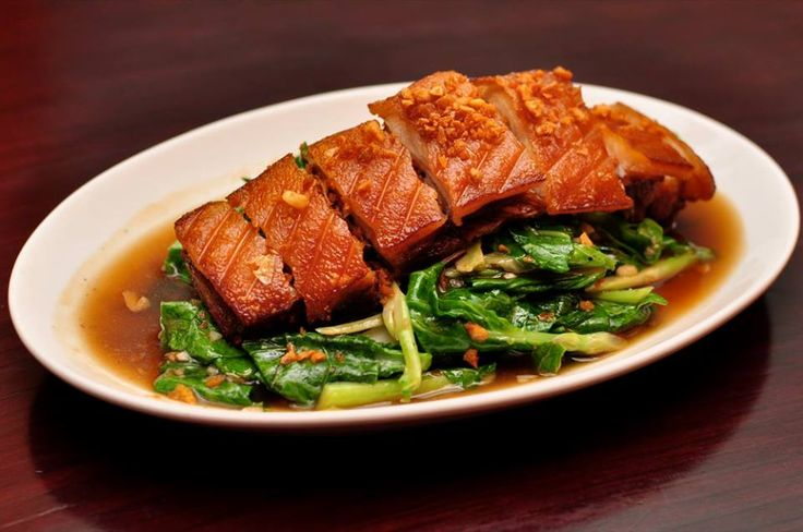 Crispy Pork and Kale: Crispy Pork, Food Photography